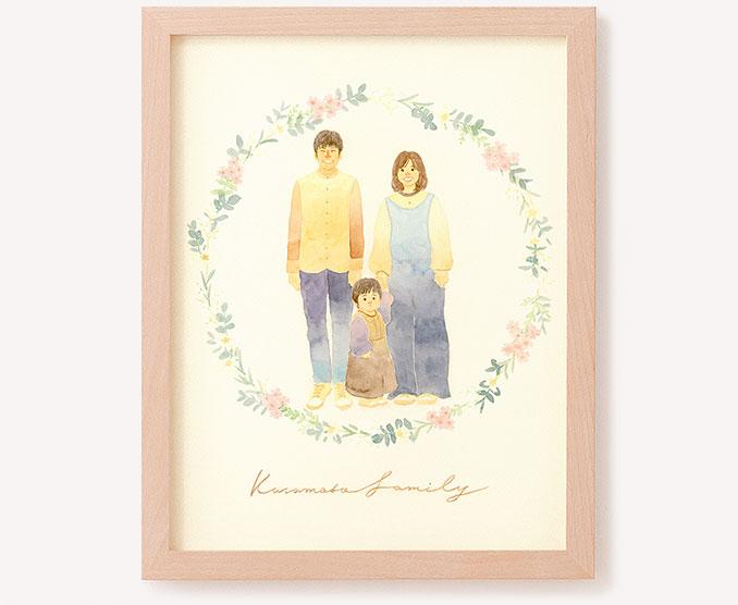 作家「はち-つむぎ-」のご両親プレゼント似顔絵
