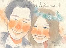作家「amii」の似顔絵