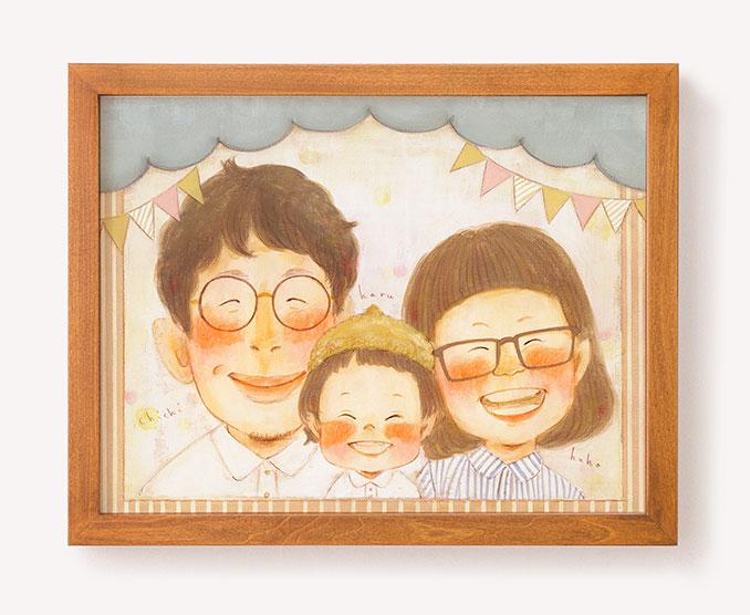 作家「まあこ」のご両親プレゼント似顔絵