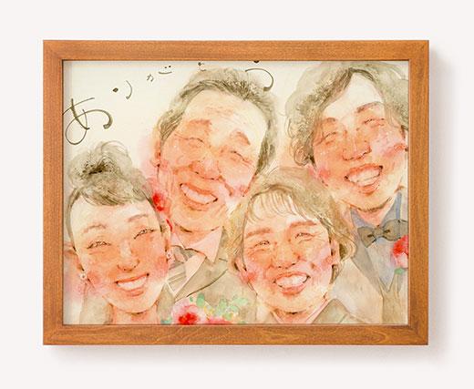 作家「miu」のご両親プレゼント似顔絵