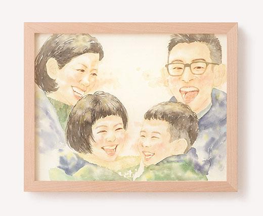 作家「はち」のご両親プレゼント似顔絵