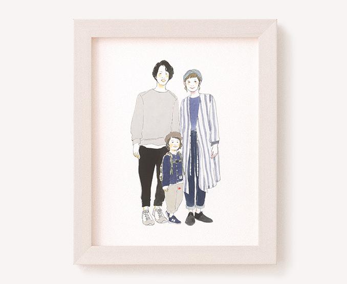 作家「るつ」のご両親プレゼント似顔絵