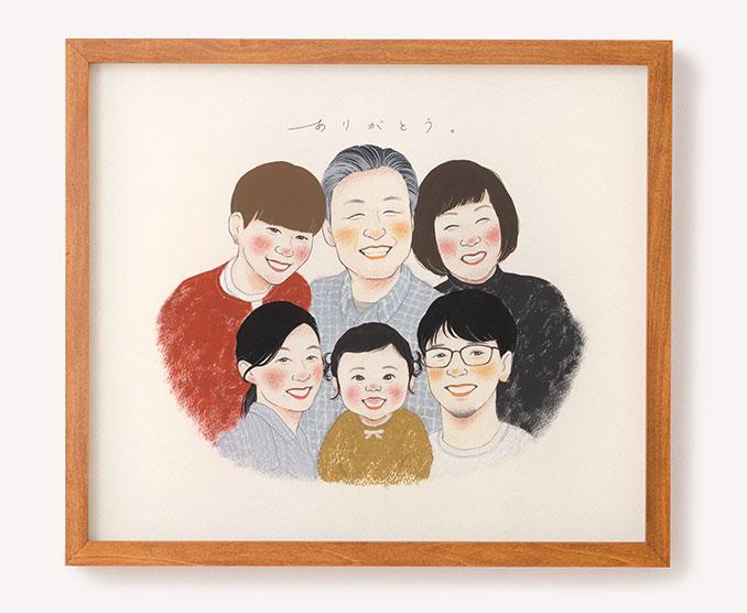 作家「ebisu」のご両親プレゼント似顔絵