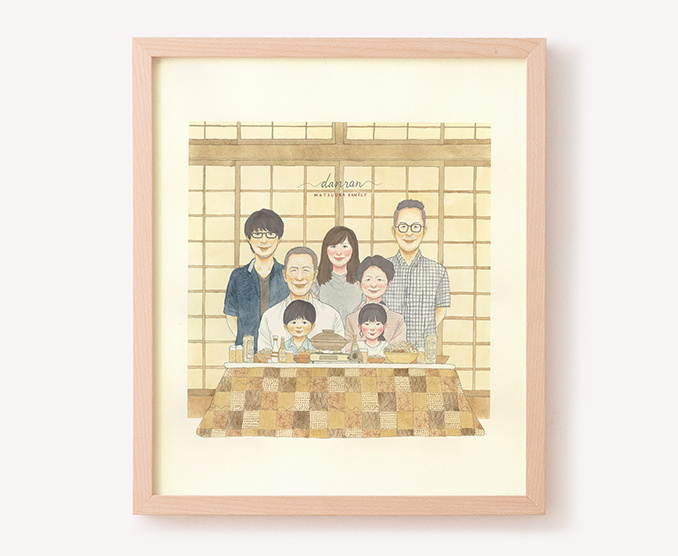 作家「nokami」のご両親プレゼント似顔絵