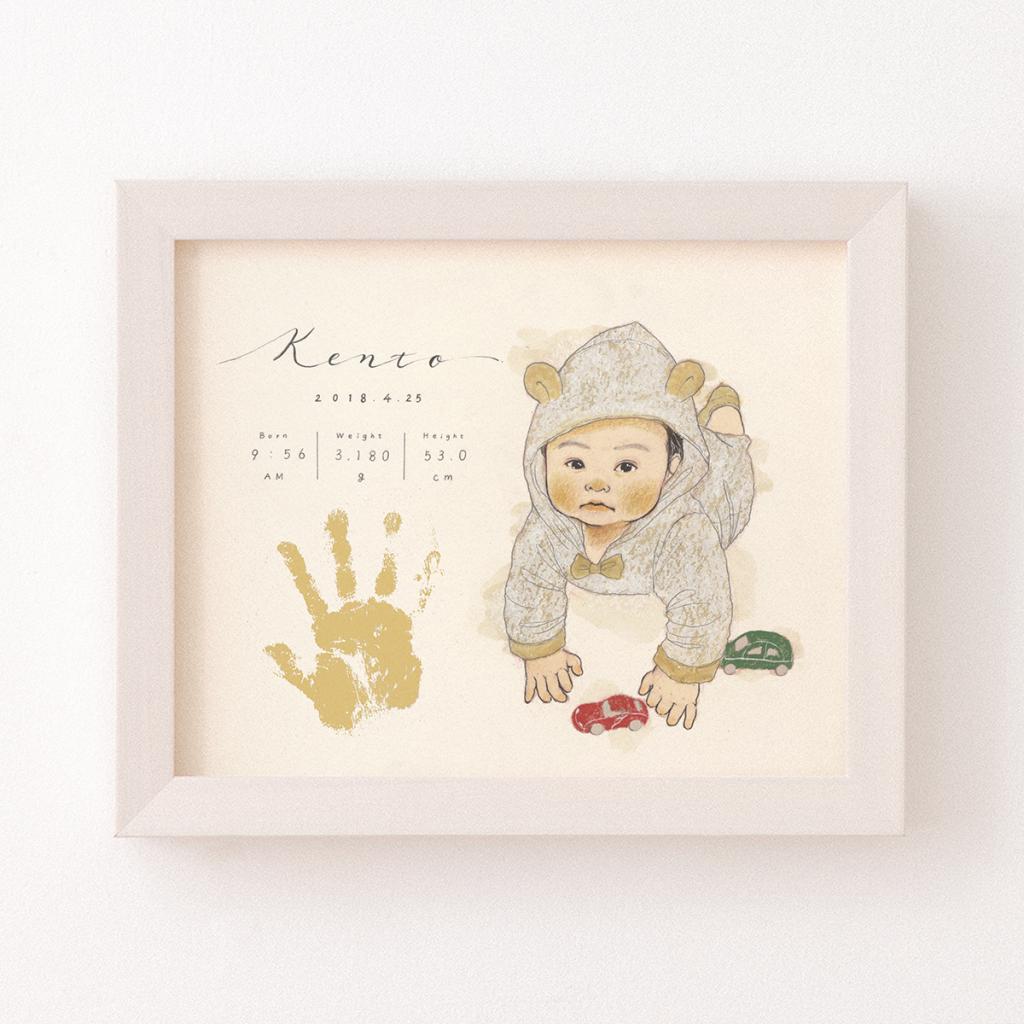 手形足形アート 作家 ebisu 似顔絵 記録